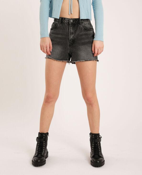 Short en jean high waist noir - Pimkie
