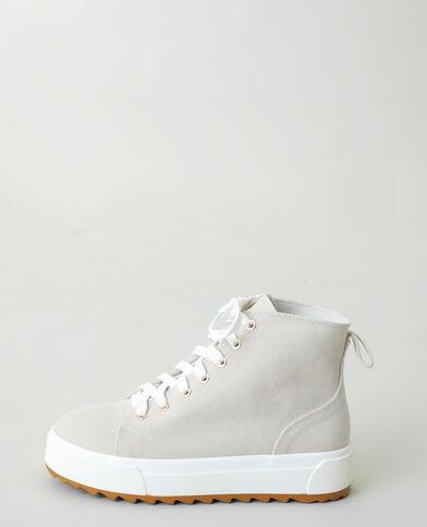 Hoge sneakers met platformzolen beige - Pimkie