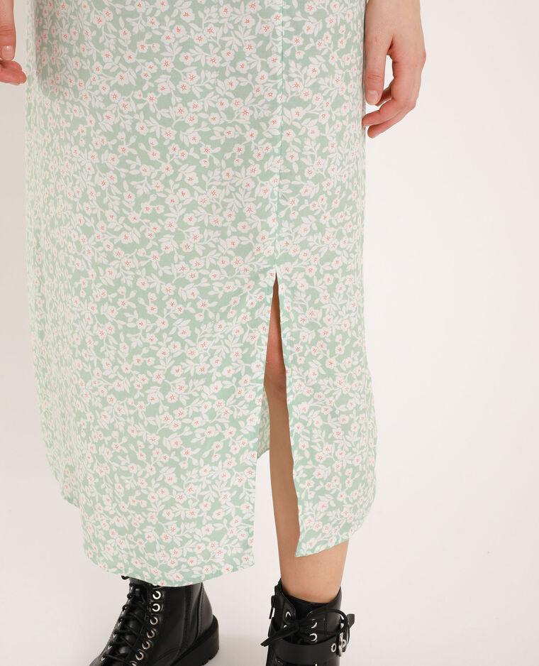 Robe à fleurs vert d'eau