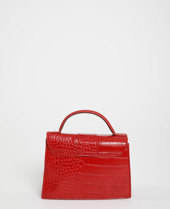 Boxy-tas met krokodillenleereffect rood - Pimkie