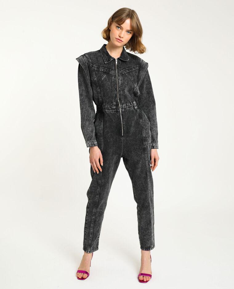 Combipantalon en jean gris délavé