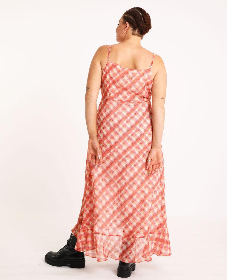 Robe longue à carreaux blanc - Pimkie
