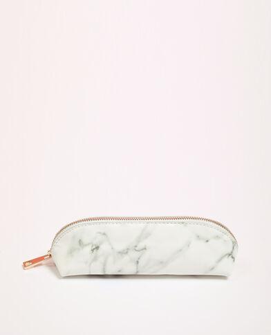 Trousse imprimé marbre blanc