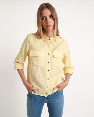 Soepelvallend hemd geel