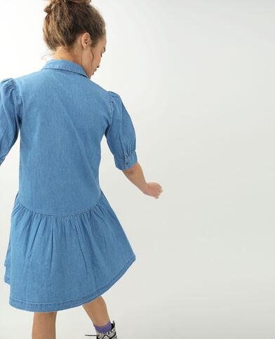 Jeansjurk verwassen blauw - Pimkie