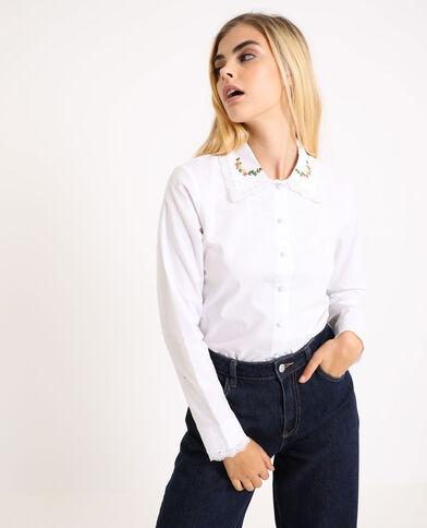 Hemd met borduurwerk wit