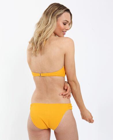 Bikinitop met laag uitgesneden cups geel