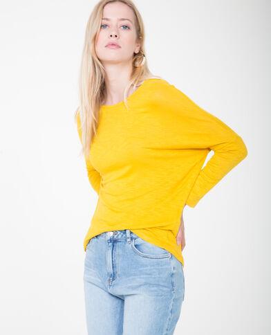 T-shirt à manches chauve-souris jaune