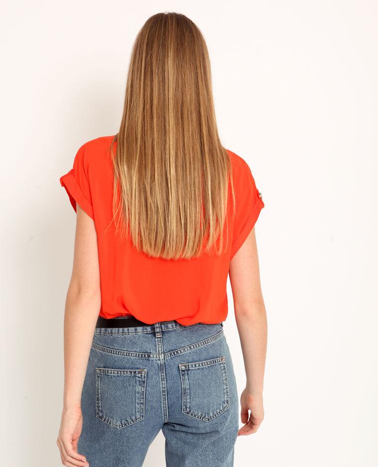 Hemd met korte mouwen oranje