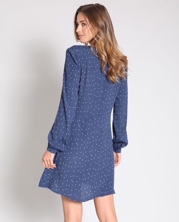Robe à manches longues bleu