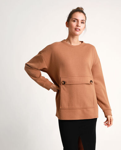 Sweat oversized caramel