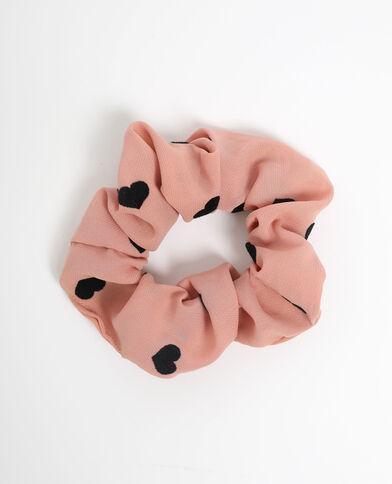 Chouchou à cœurs rose