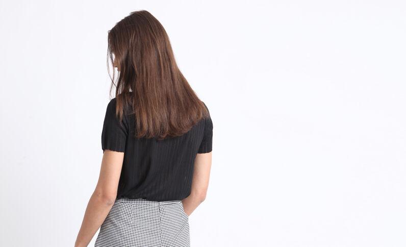 Dun T-shirt zwart