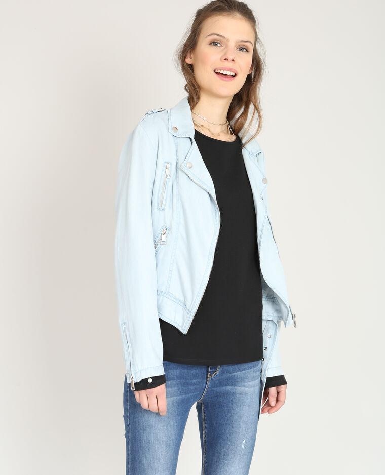 Style 323258b21a06 Perfecto Pimkie Fluide Bleu Veste Clair zxdT6zS