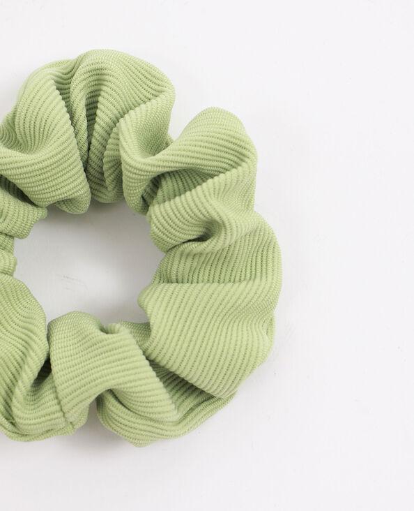 Chouchou texturé vert d'eau
