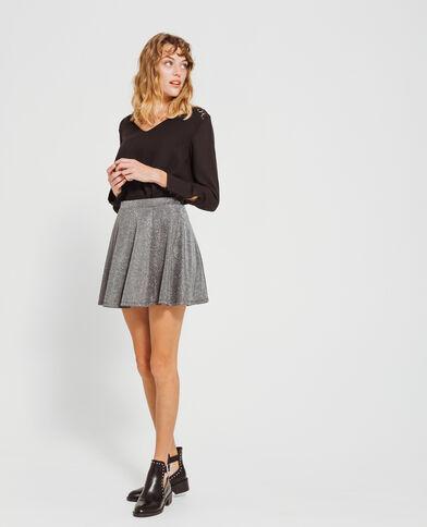Mini-skaterrok zwart
