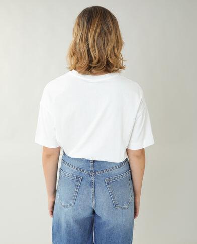 Ruimvallend T-shirt Bambi gebroken wit - Pimkie