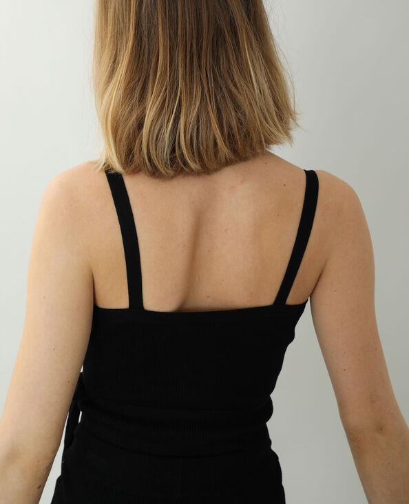 Wikkeltop van tricot zwart - Pimkie
