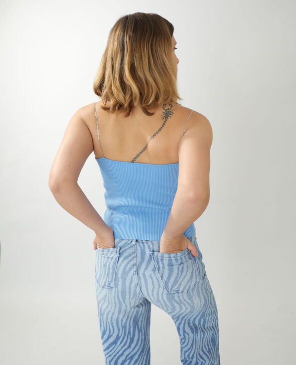 Topje met kettingbandjes blauw - Pimkie