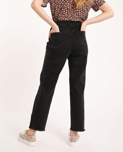 Jean straight high waist noir