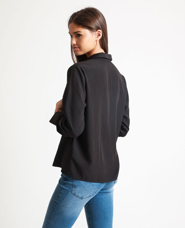 Hemd met vierkante pasvorm zwart