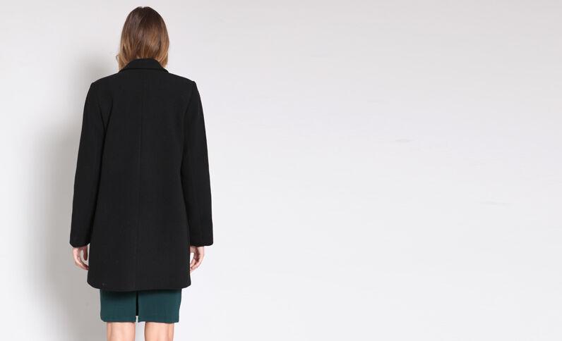 Manteau en laine noir