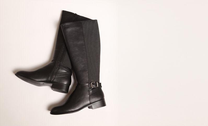 Laarzen van kunstleer zwart