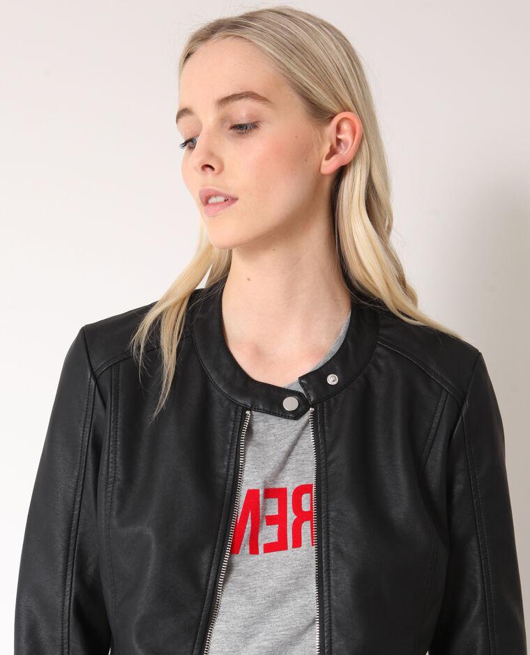 Veste en faux cuir noir