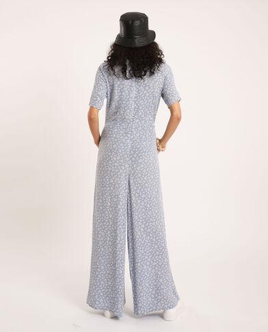 Combi-pantalon à fleurs bleu