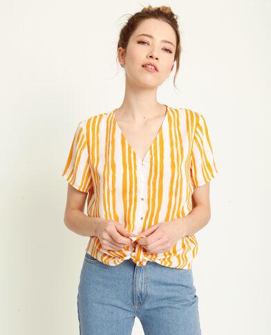Shirt met strikjes wit