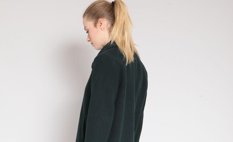 Halflange jas groen