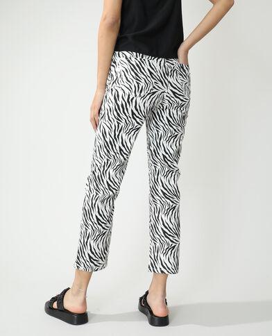 Jean straight high waist zébré blanc - Pimkie