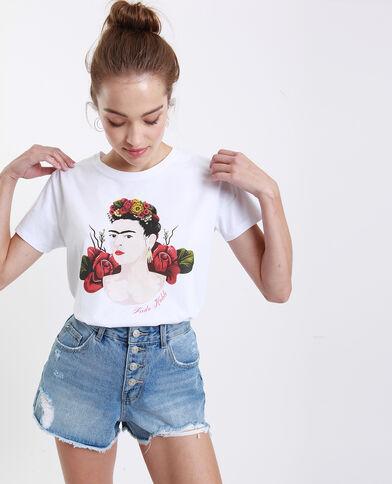 Frida Kahlo T-shirt wit