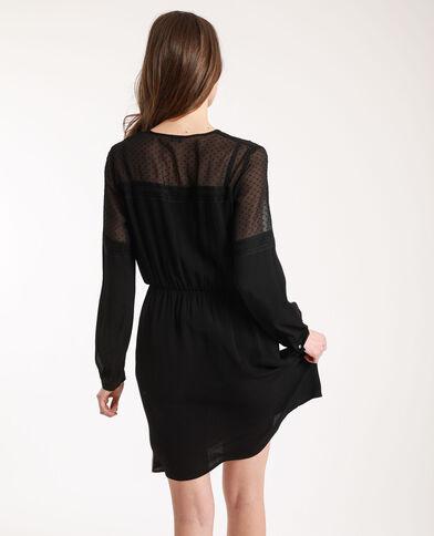 Robe à plumetis noir