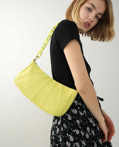 Kunstleren handtas geel