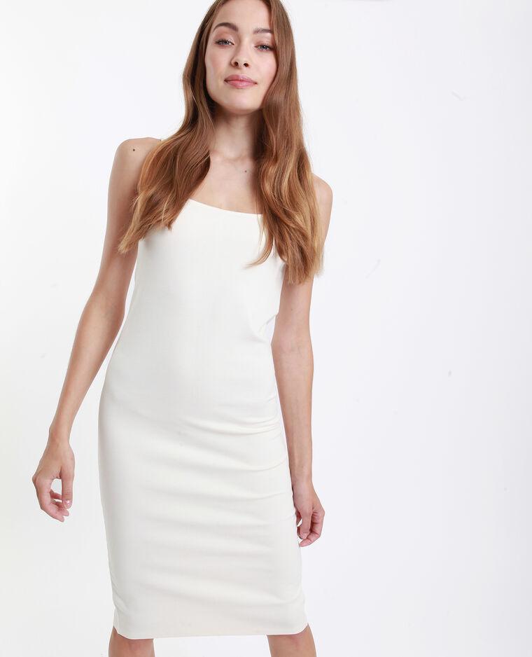 Strakke jurk gebroken wit