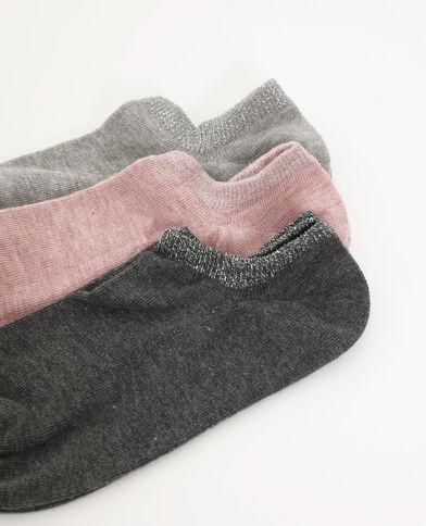Lot de 3 paires de chaussettes basses rose