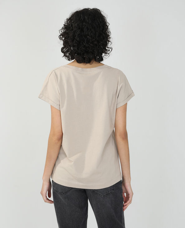 T-shirt basique oversize taupe - Pimkie