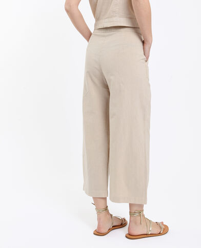 Pantalon cropped beige
