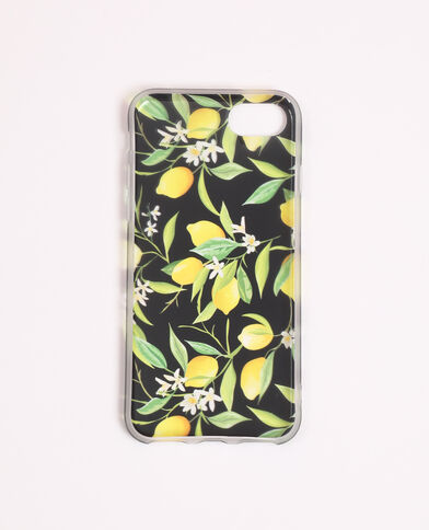 Coque compatible iPhone imprimée jaune