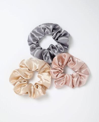 Set van 3 scrunchies roze