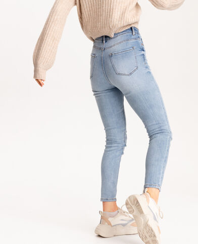 Push-up jeans met middelhoge taille denimblauw