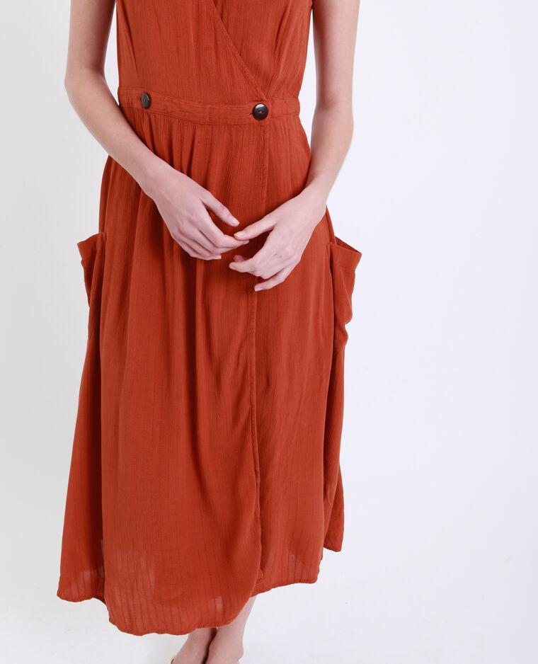 Robe longue à poches rouille