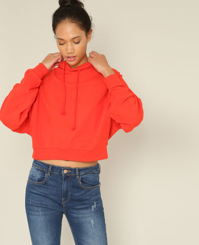 Korte sweater rood