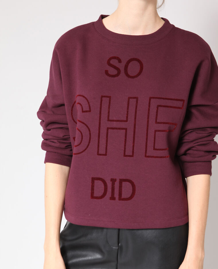 Sweat cropped bordeaux