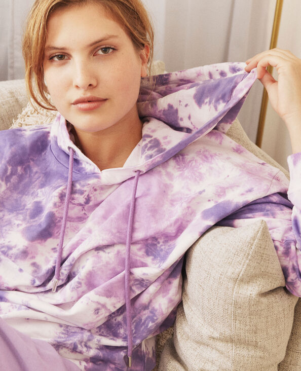 Sweater met kap violet