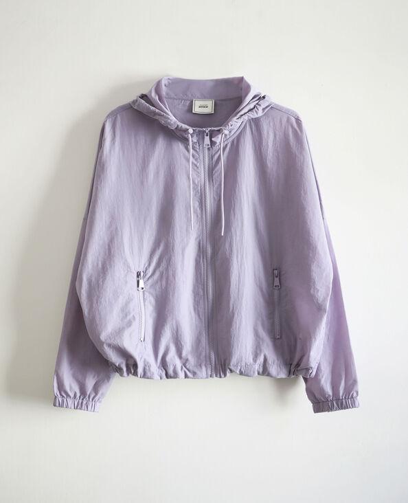 Windjack met kap violet