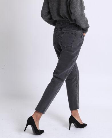 Jean droit mid waist gris