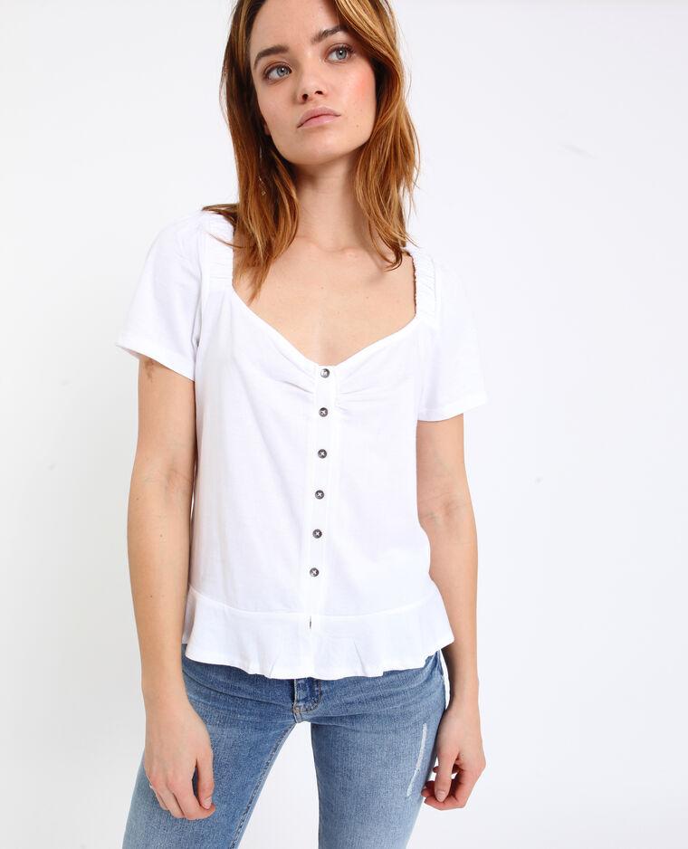 Shirt met knopen wit