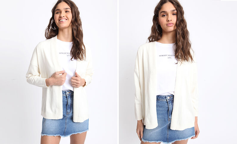 Gilet ample blanc